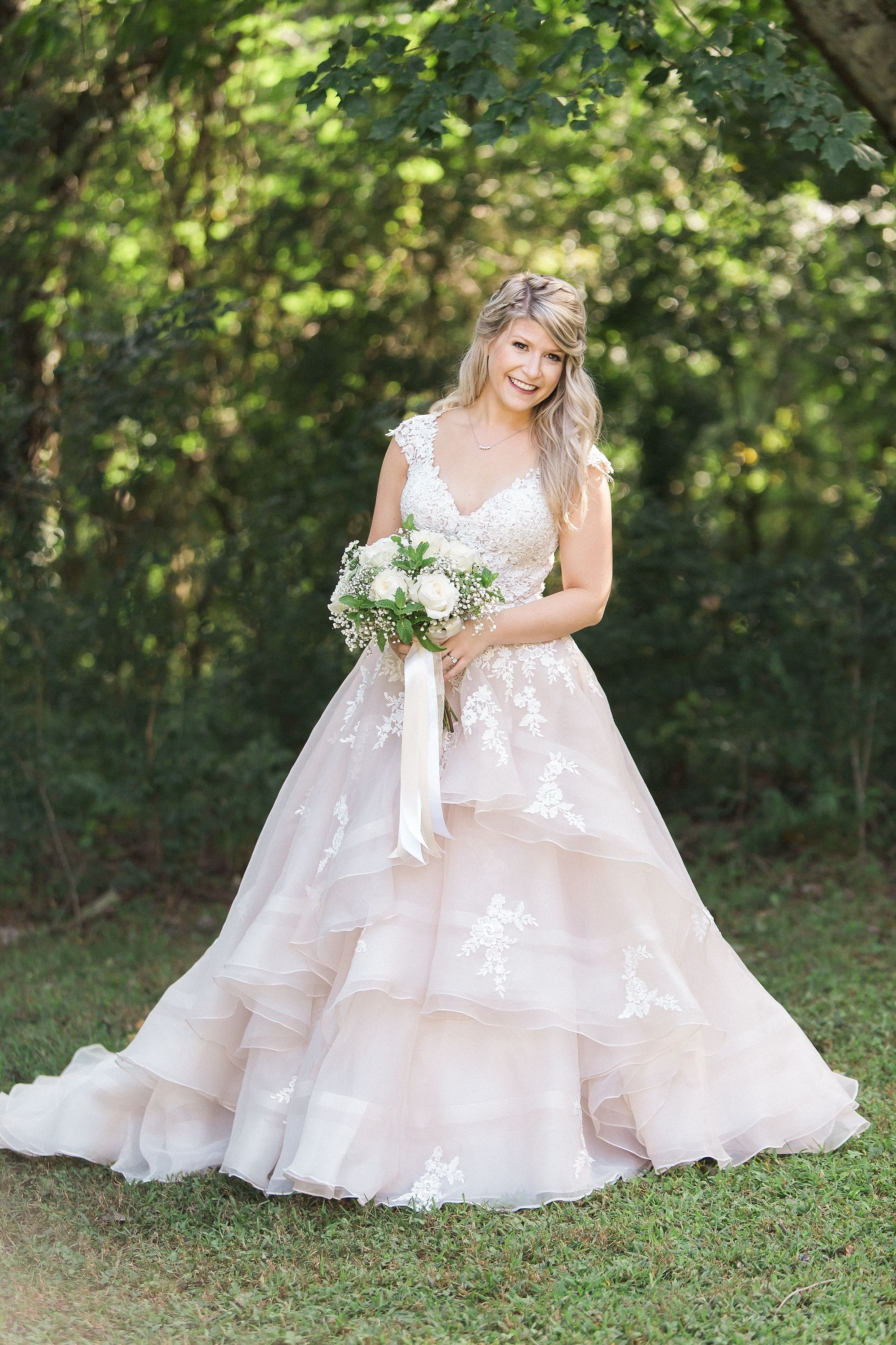 Gorgeous Bride, The Perfect Blush And Champagne Wedding Gown intended for Backyard Garden Wedding Dress