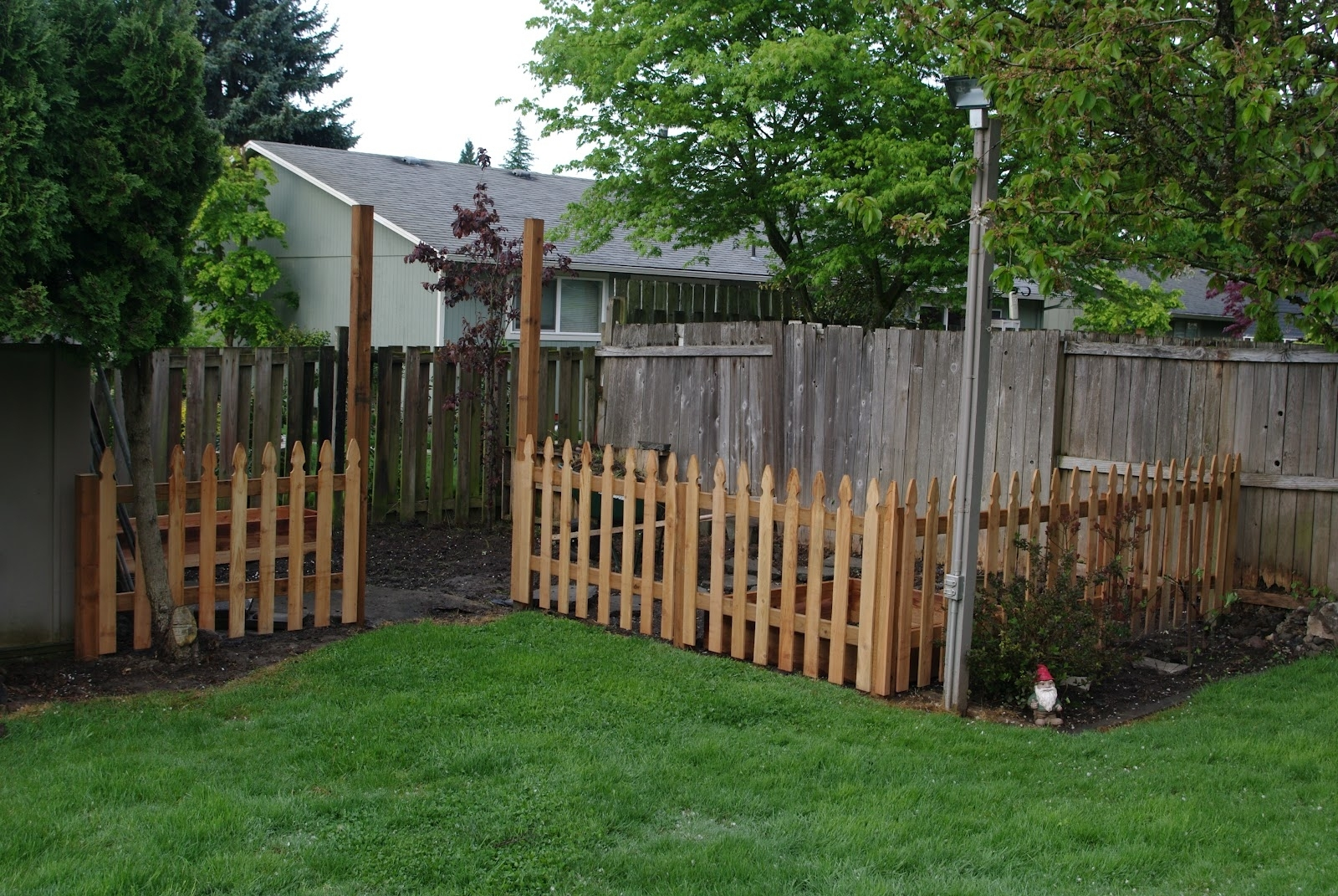 Homelifescience: Backyard Garden Fence-In Progress regarding Backyard Garden With Fence