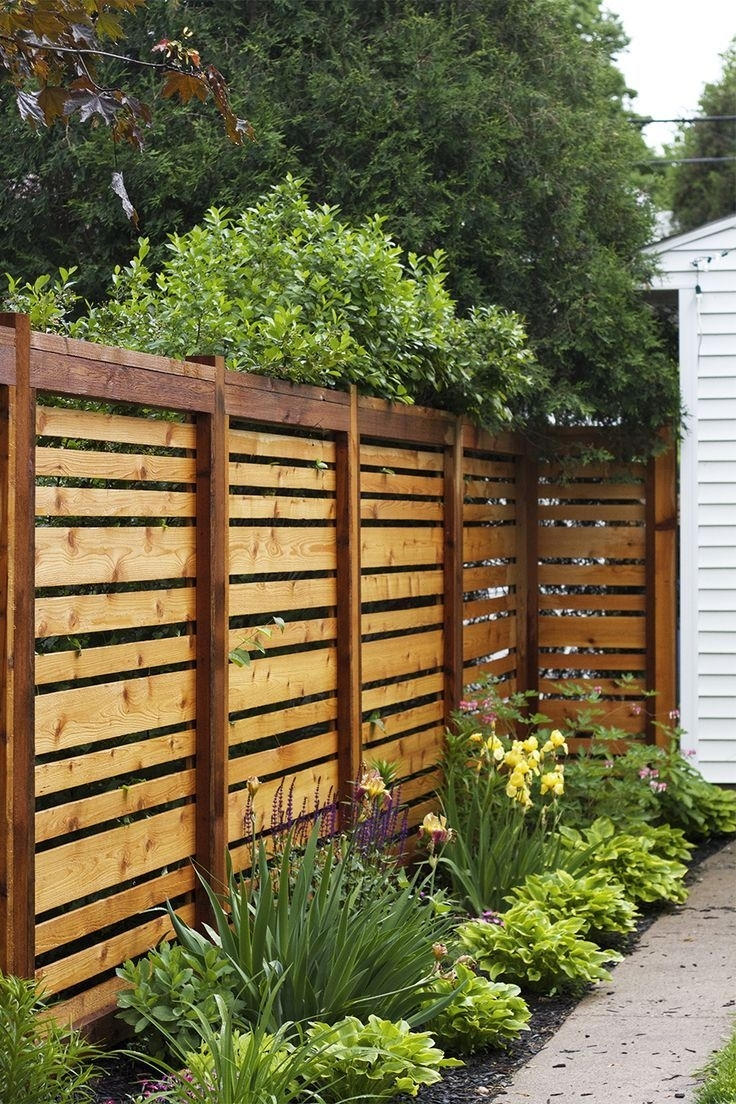 If We Ever Have To Re-Build Our Fence, This Style Is Awesome with Backyard Garden With Fence
