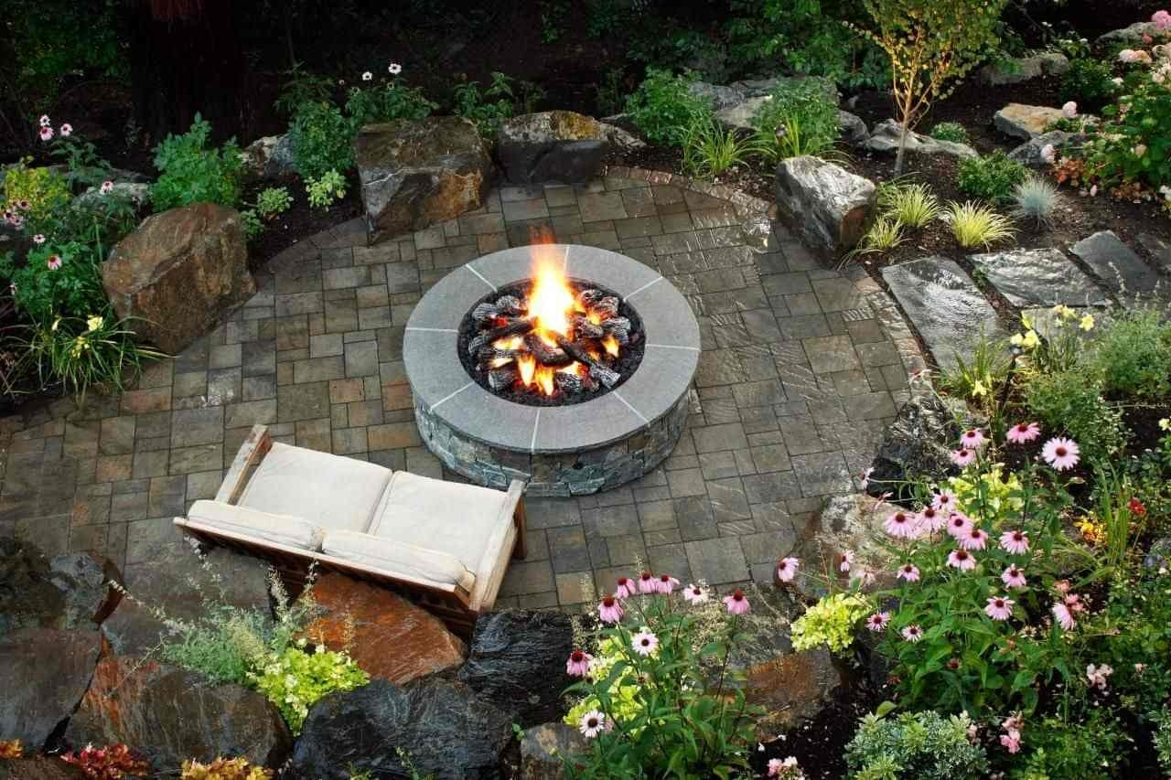 Impressive Round Outdoor Fire Pit Garden Rules Fire Pit Useful intended for Backyard Garden Fire Pit