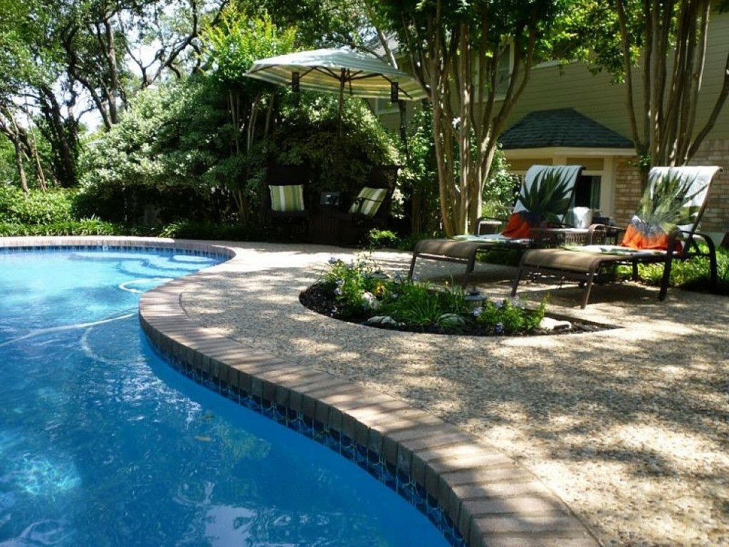 Inexpensive Pool Landscaping Ideas : Manitoba Design - Backyard At in Backyard Garden With Pool