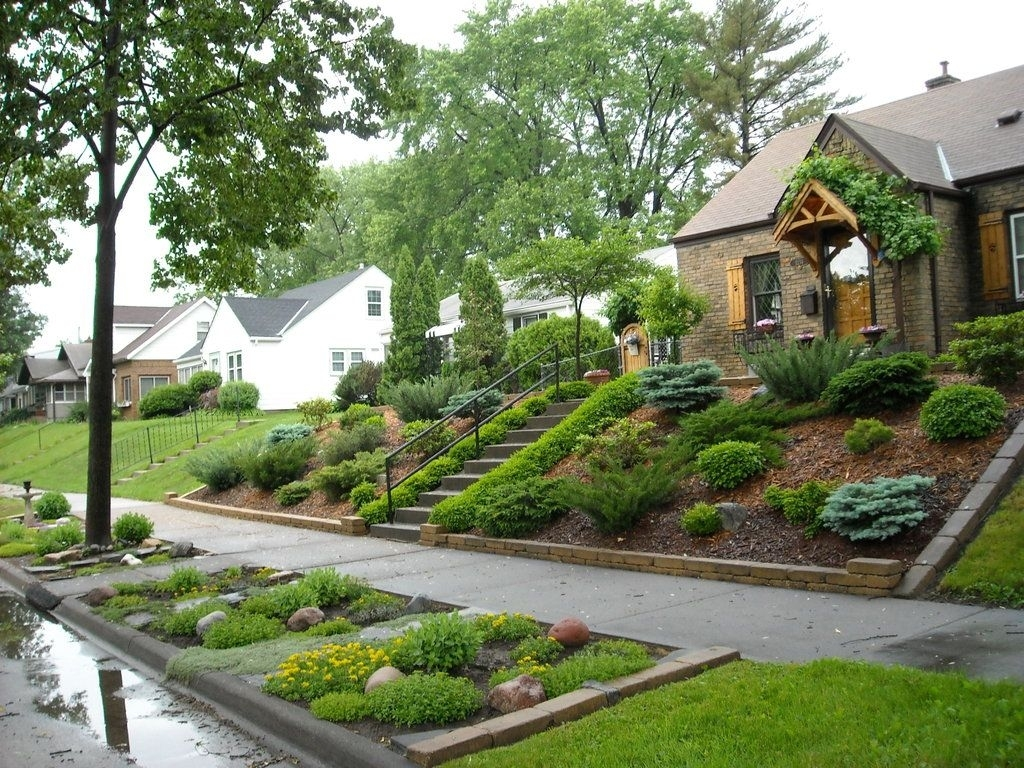 Landscaping For Sloped Front Yard With Steps | Home | Pinterest with regard to Sloped Backyard Garden Ideas