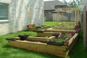 Organic Gardening Raised Lumber Beds Wood Outdoor Design With in Backyard Organic Garden Ideas