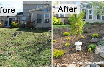 Pink And Green Mama: Diy Backyard Makeover On A Budget With Help intended for Backyard Garden Before And After