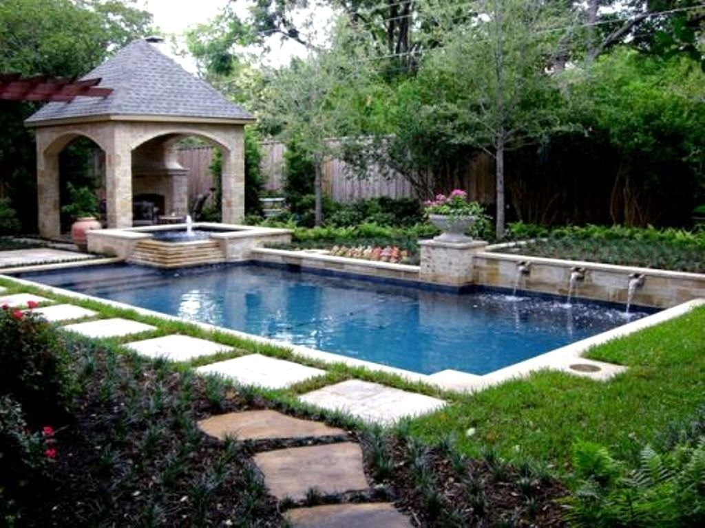 Pool Landscaping Ideas On A Budget Pool Landscaping Ideas For Small intended for Backyard Garden And Pool Ideas