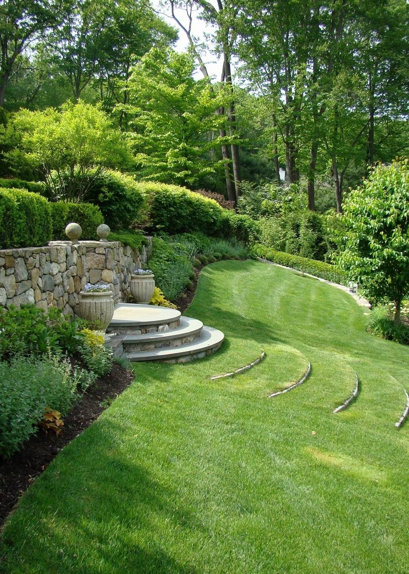 Reader Photo! Curved Terrace Stairs Tame A Slope - Finegardening with regard to Backyard Garden On A Slope