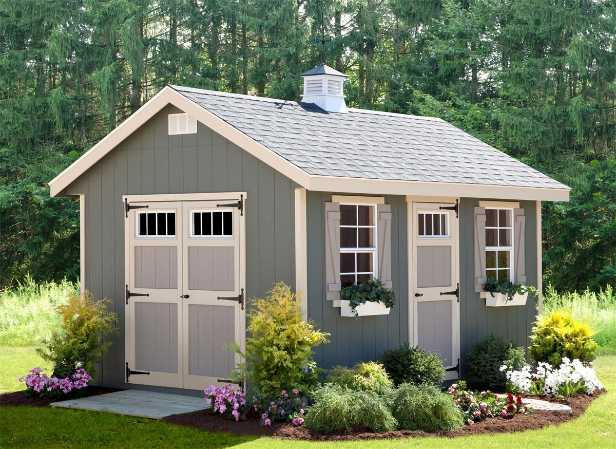 Riverside Storage Shed Kit By Dutchcrafters Amish Furniture for Backyard Garden Shed Kits