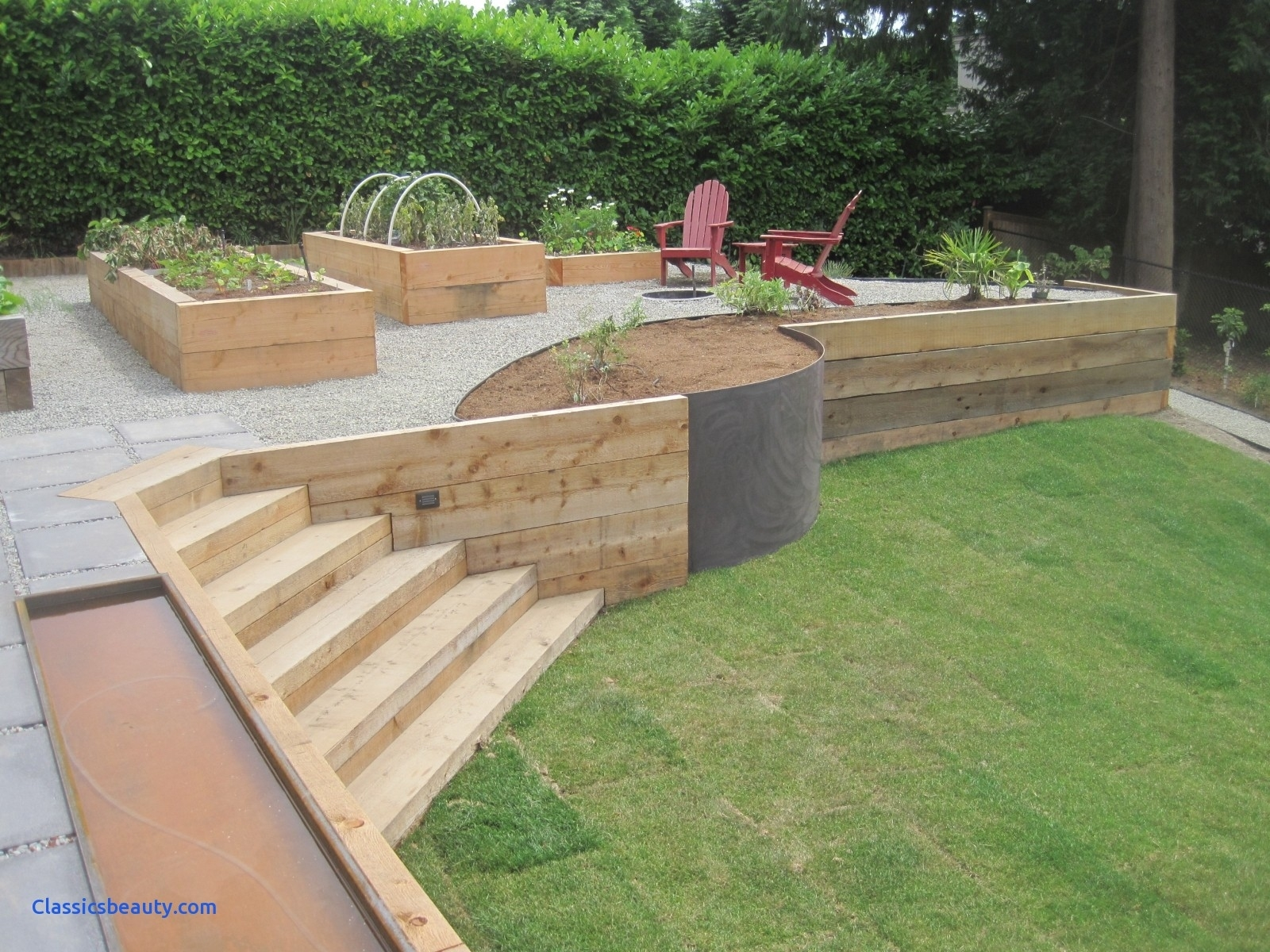 Top Retaining Wall Ideas Backyard New Wood For Garden In   Home And pertaining to Backyard Garden Wall Ideas
