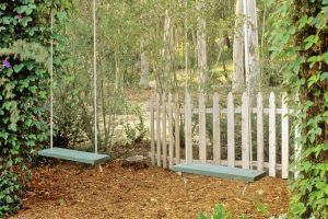 Wooden Swings Photos | Wooden Swings, Gardens And Garden Ideas with Whimsical Backyard Garden Ideas