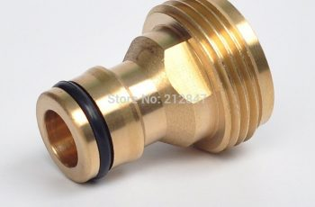 2Pcs Garden Hose Quick Connect Male (Europe Style) Threaded Tap for Garden Hose Quick Connectors Solid Brass