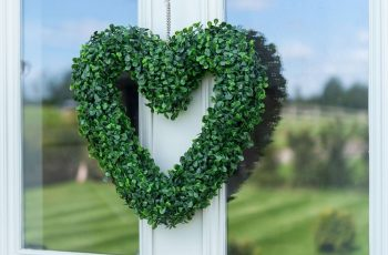 Artificial Topiary Boxwood Green Hanging Grass Heart Shaped Garden inside Garden House Hospice On Ebay