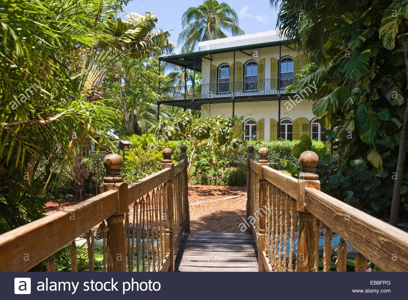 Garden Ernest Hemingway Home Museum Key West Old Town Historic Stock with regard to Oldest House And Garden Museum Key West Fl