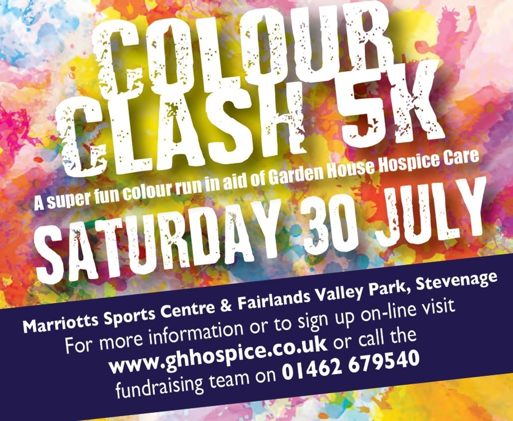 """Garden House Hospice On Twitter: """"6 Weeks To Colourclash! Join In in Garden House Hospice Care Events"""