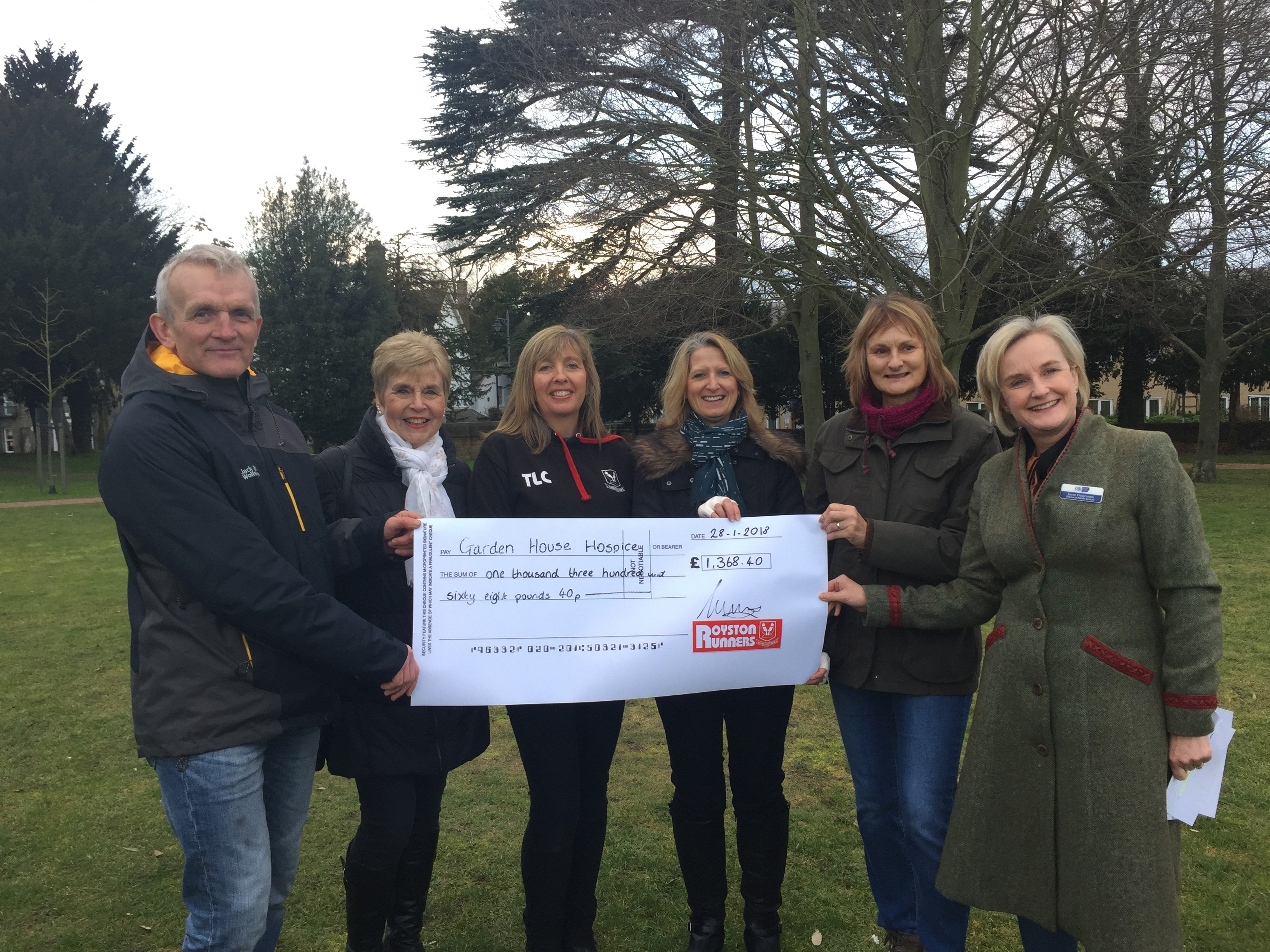 Garden House Hospice - Our Latest Donation - Royston Runners pertaining to Garden House Hospice Tree Collection