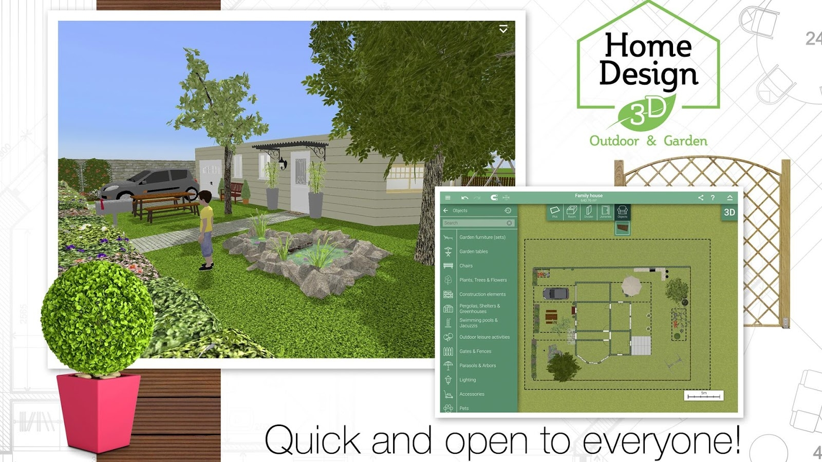 Home Design 3D Outdoor/garden 4.2.4 Apk + Obb (Data File) Download for Garden And House Design Software