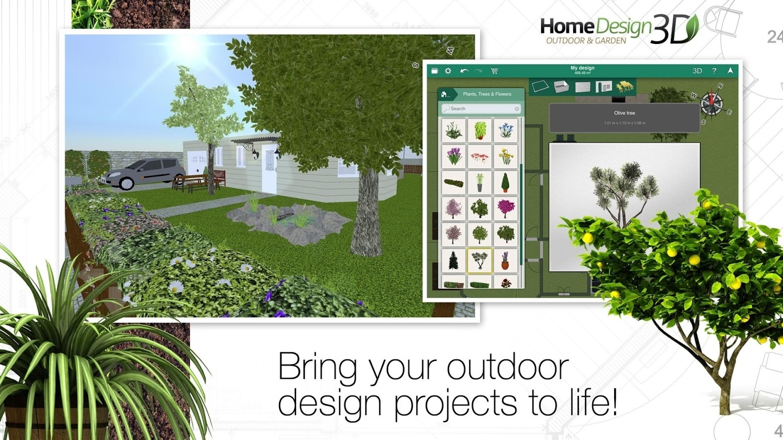 Home Design 3D Outdoor/garden Slides Into The Play Store For All inside Garden And House Design Software