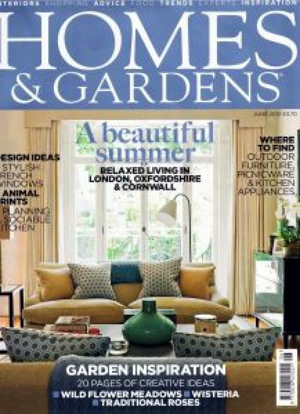 Homes & Gardens Competition In Association With Sanderson. | Homes inside House And Garden Interior Design Competition