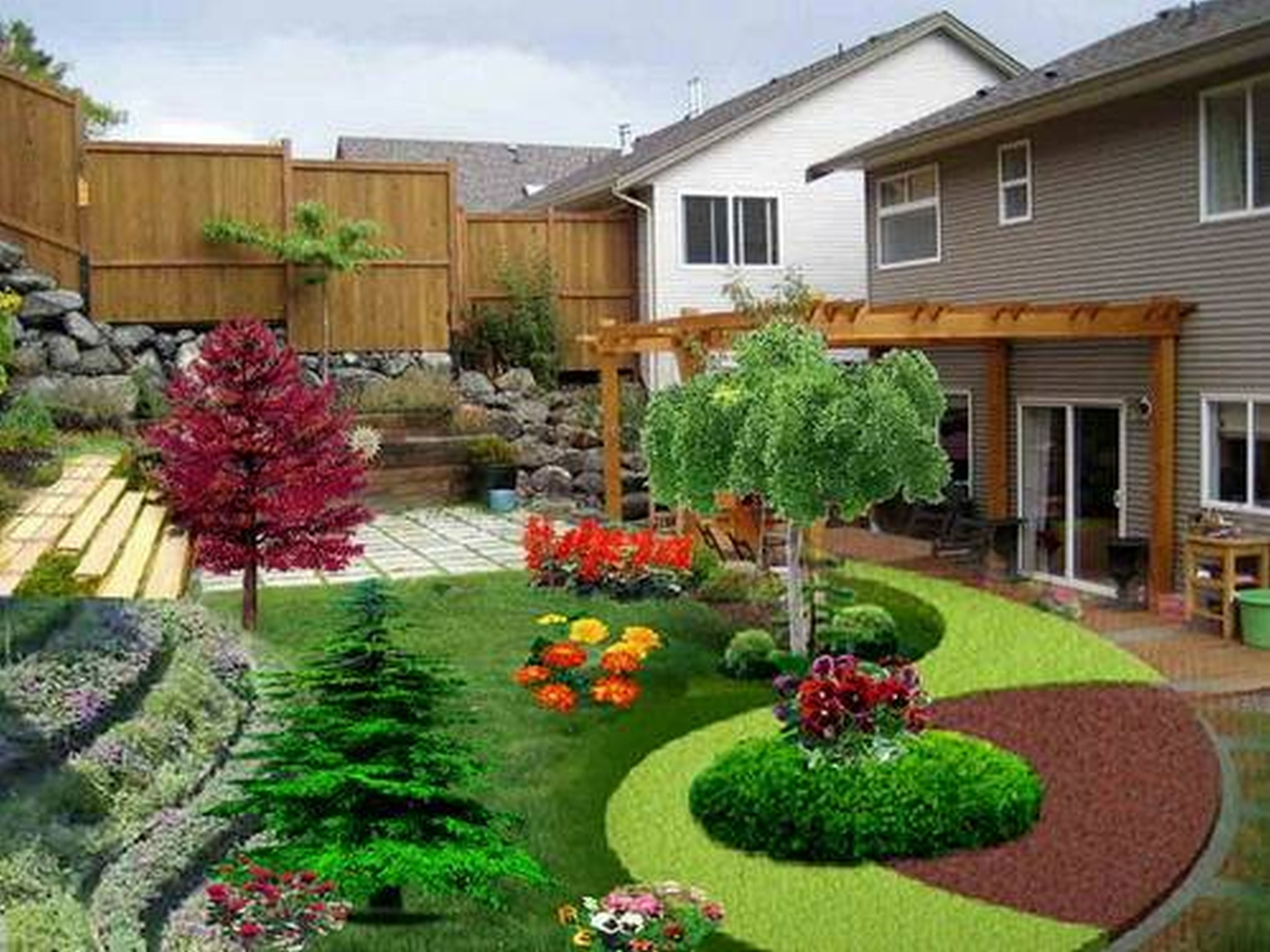 Tips For Front Yard Landscaping Ideas, Front House Garden Design for New House Garden Design Ideas