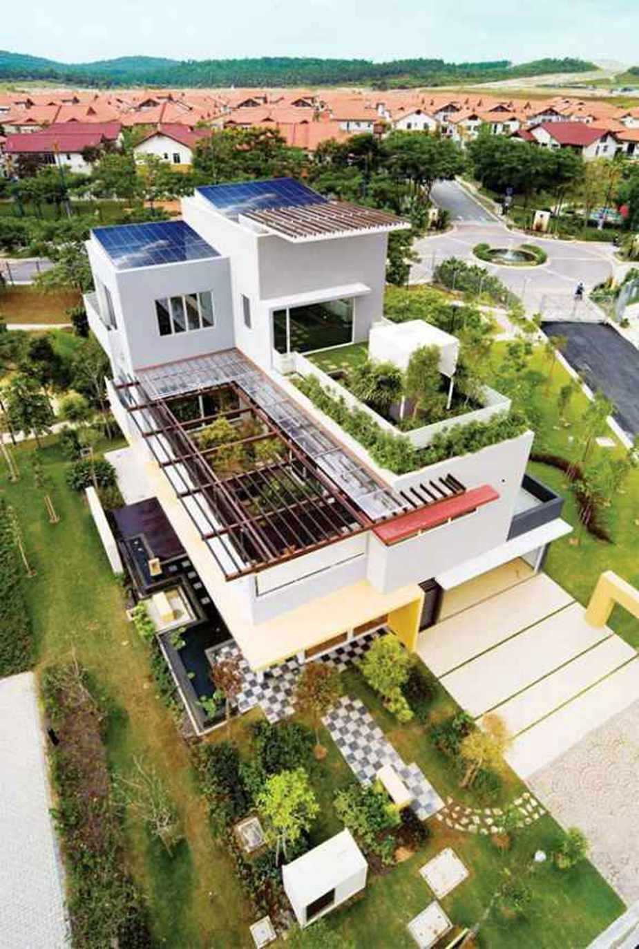 Tropical House Design By Tws Partners For Rooftop Garden Designs pertaining to House Design With Rooftop Garden