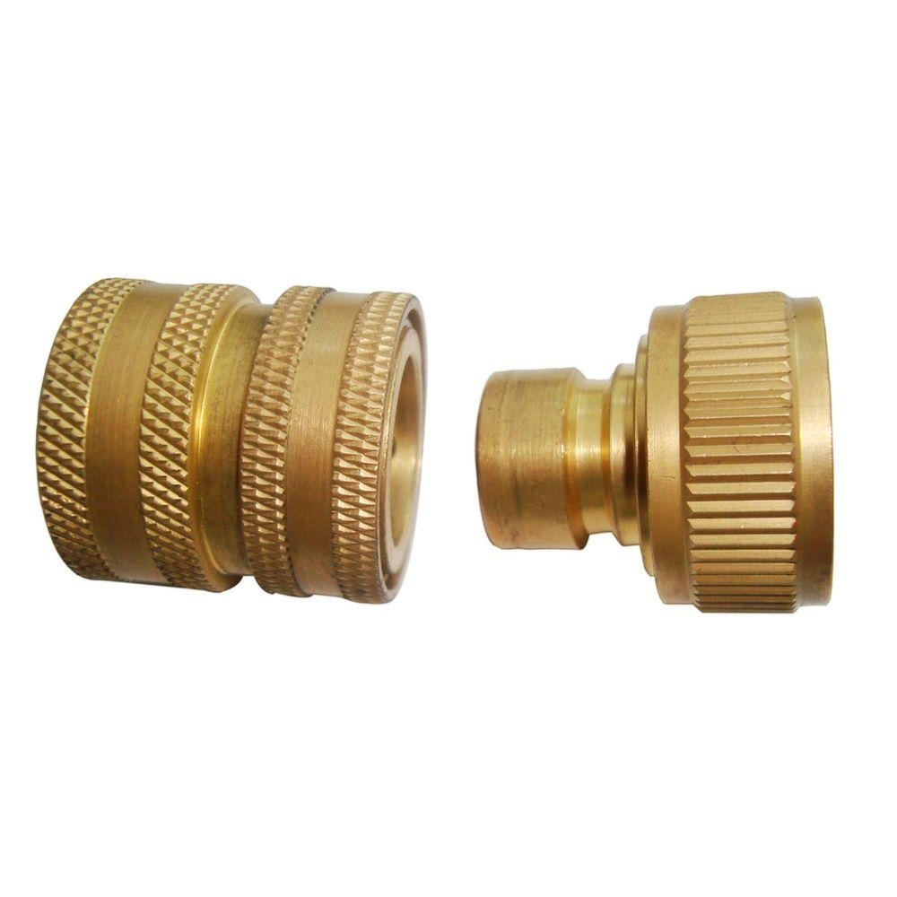 Beast Brass Garden Hose Quick-Connect For Pressure Washer-Sp01309 intended for Garden Hose Quick Disconnect Home Depot