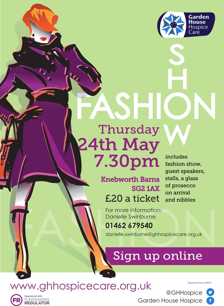 """Garden House Hospice On Twitter: """"get Your Friends Together For A inside Garden House Hospice Fashion Show"""