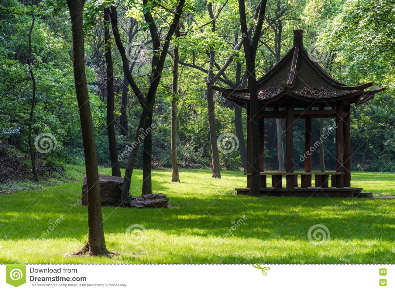 Gazebo In The Forest Stock Image. Image Of Maryland, Architecture inside Garden House Of Park Forest