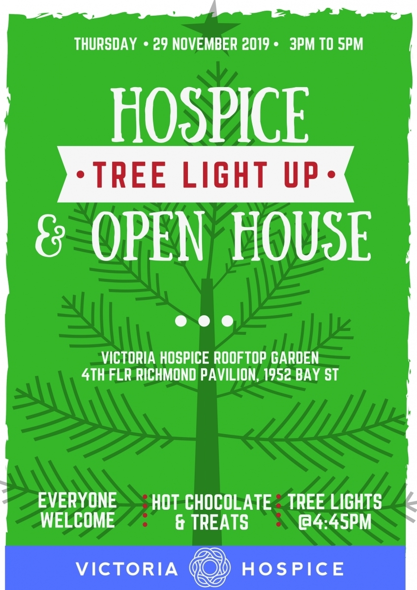 Holiday Light Up And Open House | Victoria Hospice within Garden House Hospice Just Giving