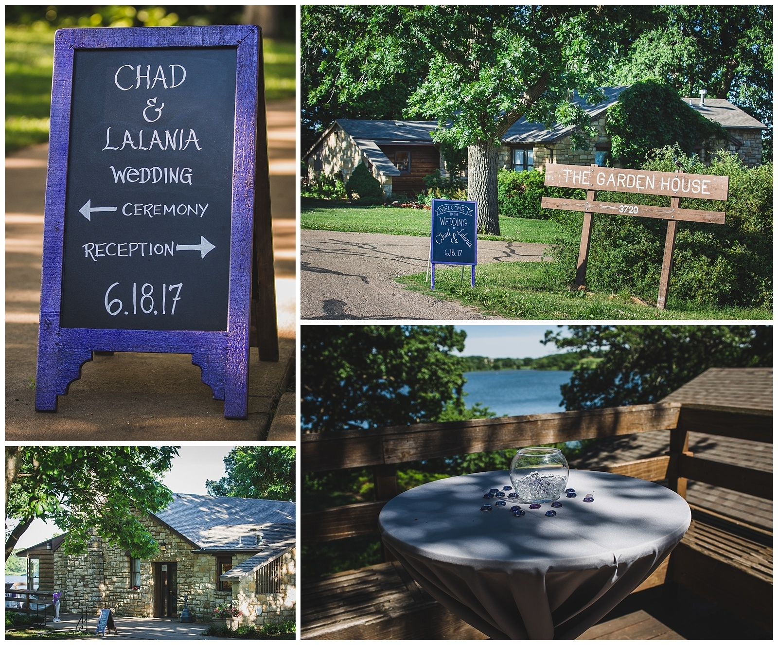 Lalania + Chad • A Lake Shawnee Wedding – Wisdom-Watson Weddings in Garden House Lake Shawnee Topeka Ks