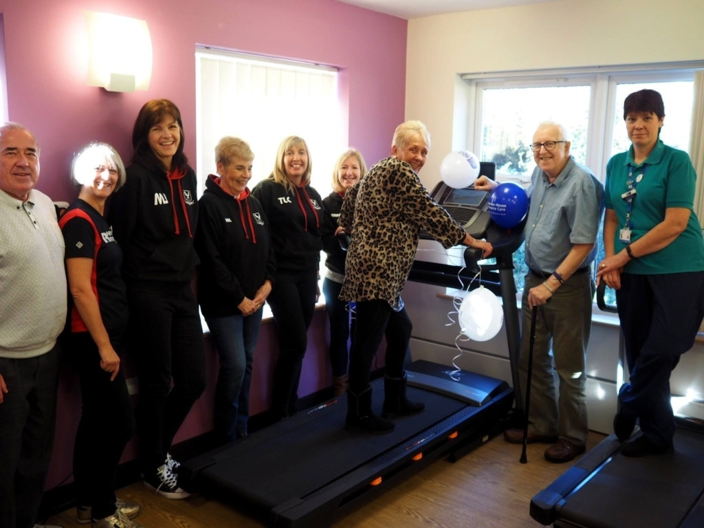 Royston Runners Raise Money For Garden House Hospice Care Gym in Garden House Hospice Hawthorne Centre