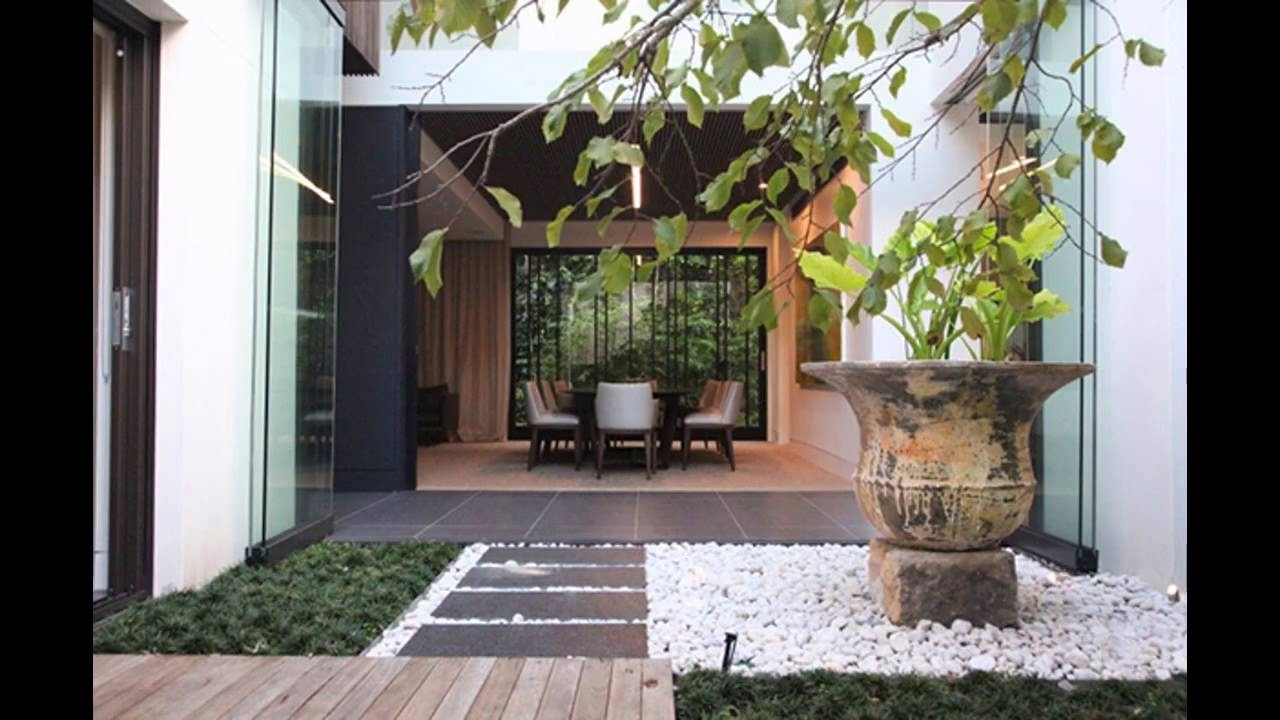 Simple Small Indoor Garden Design Ideas Youtube, House With 47 with regard to Small House Design And Garden