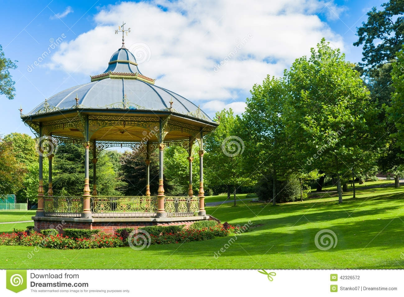 Summer House In Park Stock Photo. Image Of Forest, Building - 42326572 for Garden House Of Park Forest