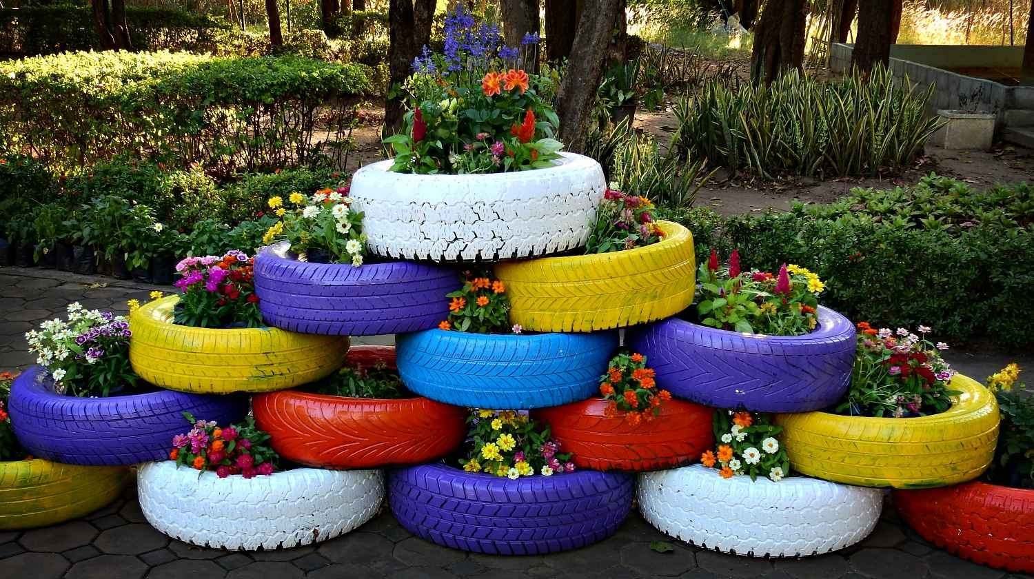 6 Way To Reuse Old Tires For Survival | Survival Life with Flower Garden Using Old Tires