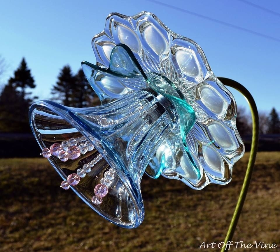 Beautiful Flowers Made Of Plates, Bowls, Votives Or Whatever Glass with regard to Garden Flowers Made From Plates
