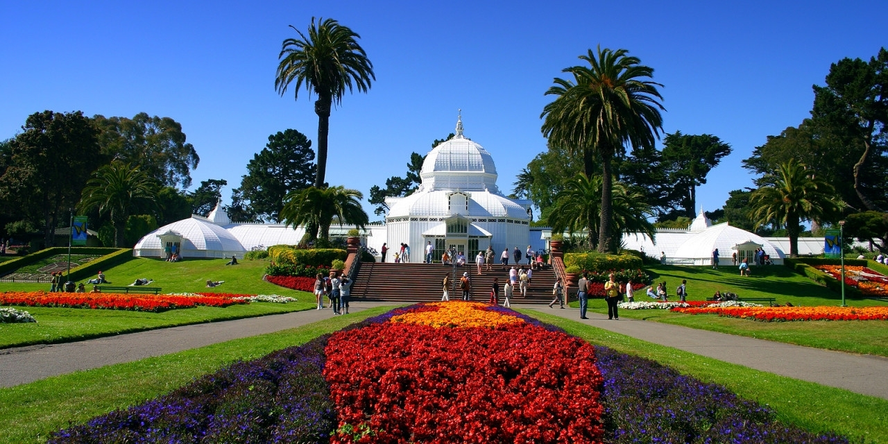 Conservatory Of Flowers for Flower Garden Golden Gate Park
