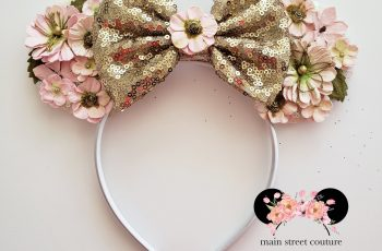 Flower And Garden Festival Ears Rose Gold Minnie Ears Floral | Etsy with regard to Flower And Garden Festival Headband