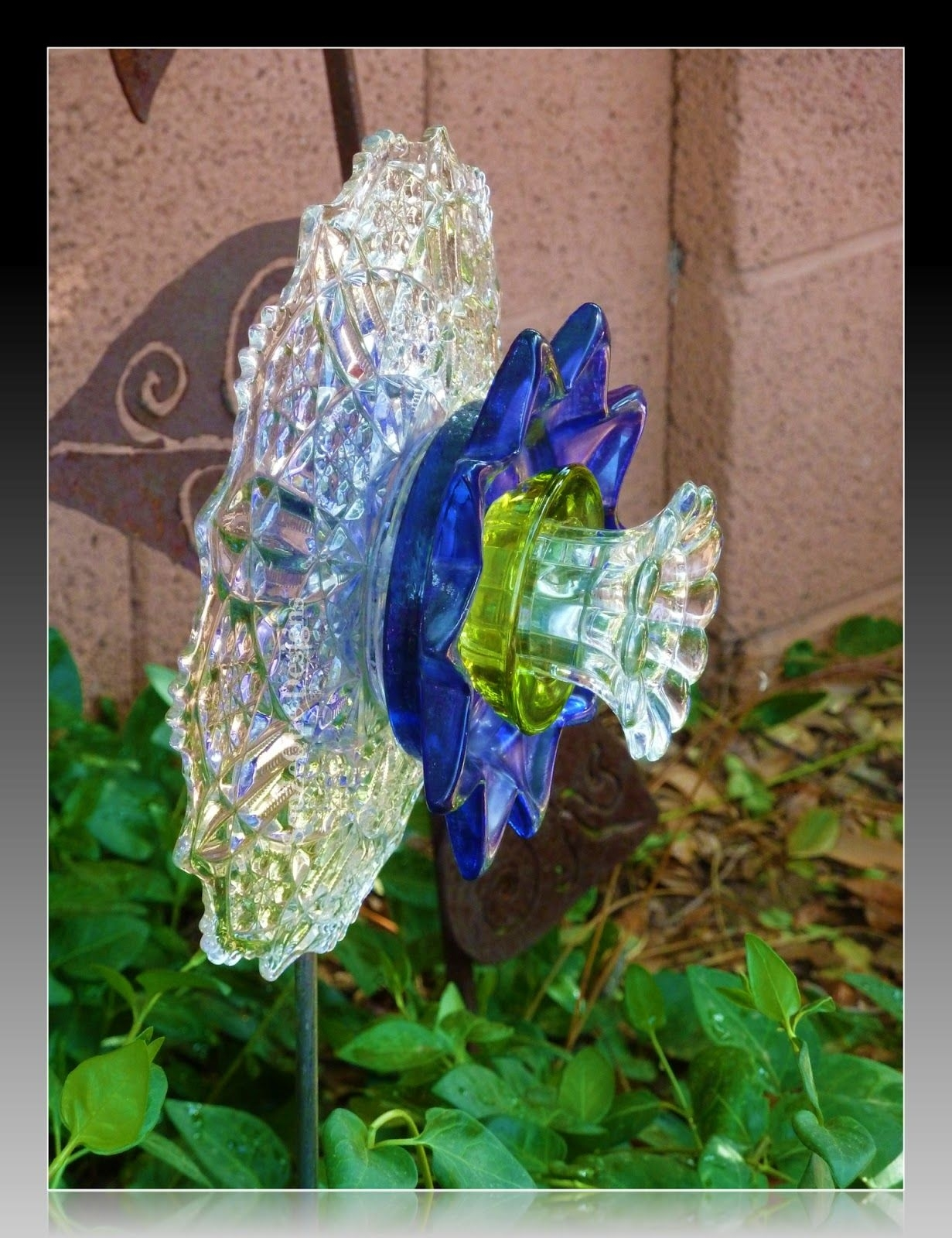 Flowers Made Of Cyrstal Dishes | Soozeques Arroyo Junkers And Other for Garden Flowers Made From Dishes