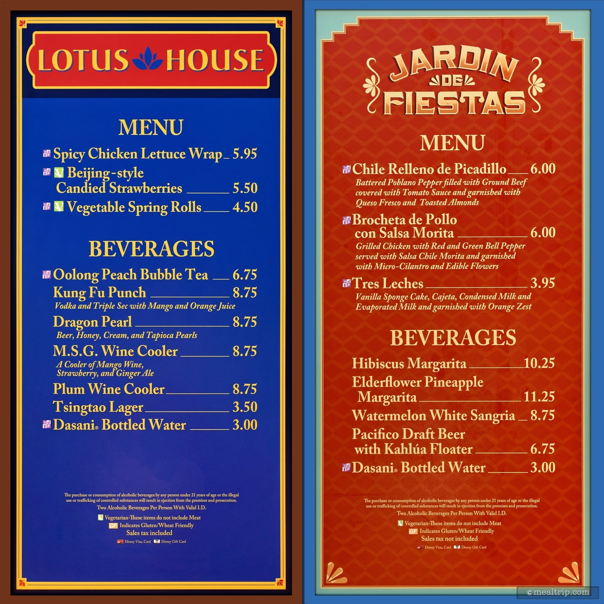 Menu Boards And Prices For 2017 Food Booths - Epcot Flower & Garden within Epcot Flower And Garden Festival Food Prices