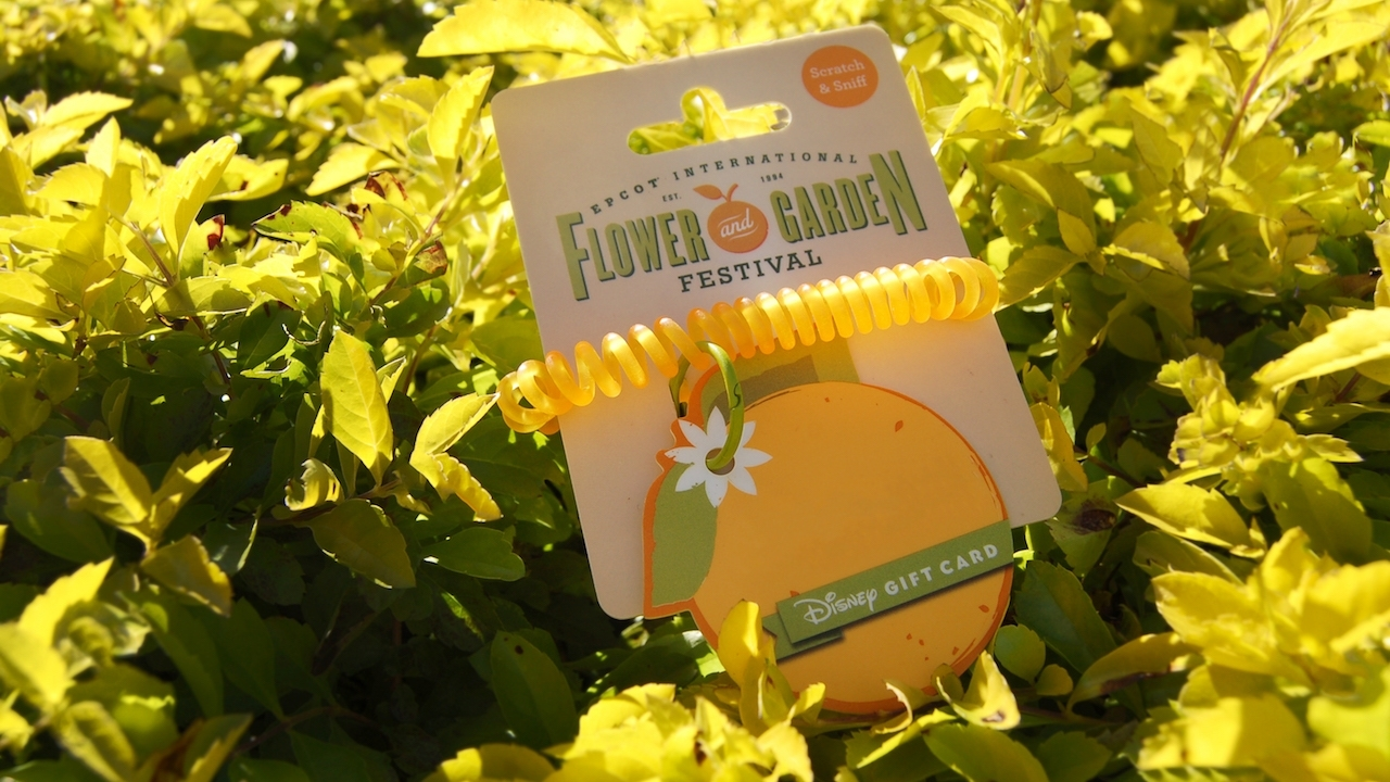 Stop And Smell The Oranges – New Disney Gift Card For Epcot pertaining to Flower And Garden Festival Gift Card