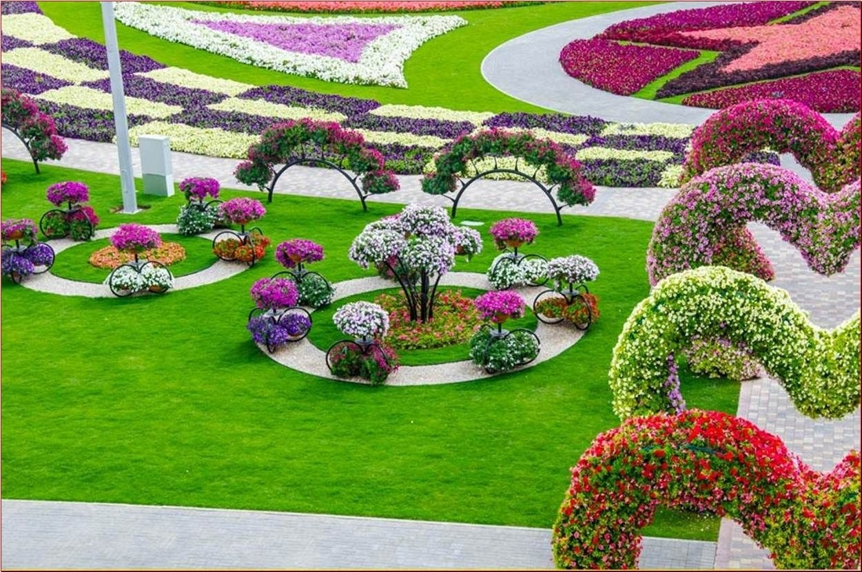 The Most Beautiful And Biggest Natural Flower Garden In The World intended for Hanging Flower Garden In Dubai