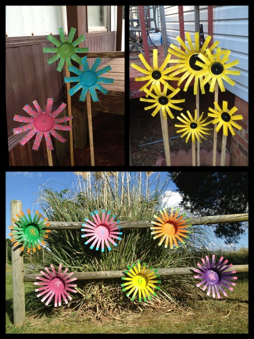 Tin Can Flowers!! Super Easy And Very Fun To Make.   Things I Have with Garden Flowers Made From Tin Cans