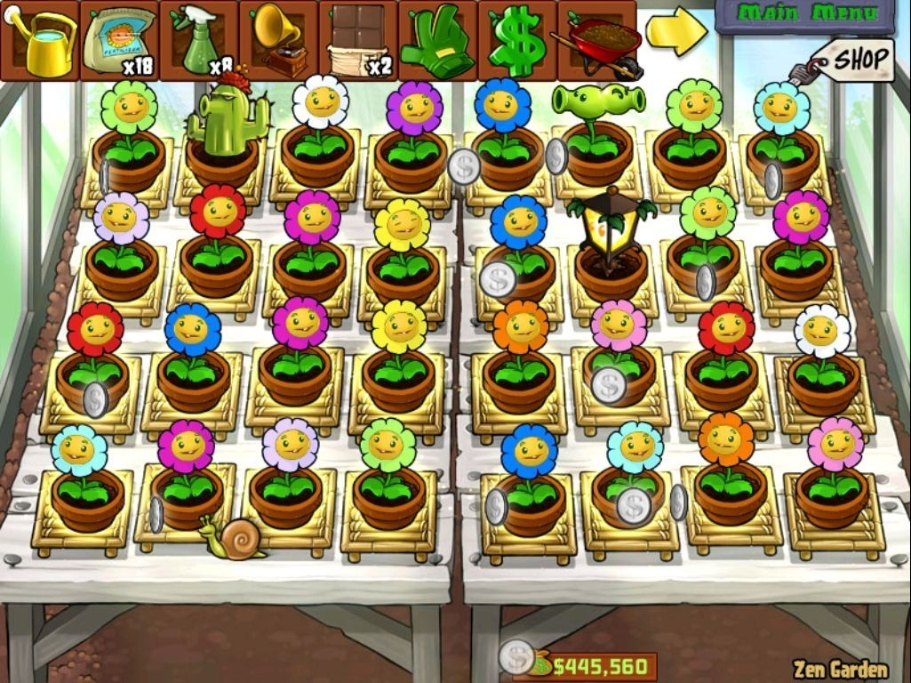 All The Marigold Colours In Pvz. The Snail Collects Coins That The throughout Zen Garden Plants Vs Zombies Iphone