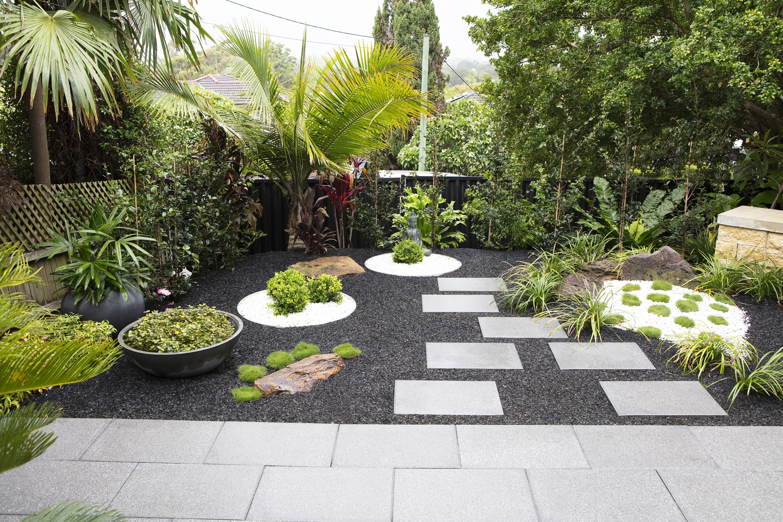 Aussie Backyards Inspired By Overseas Holiday Spots - The Interiors regarding Zen Garden Design Balls