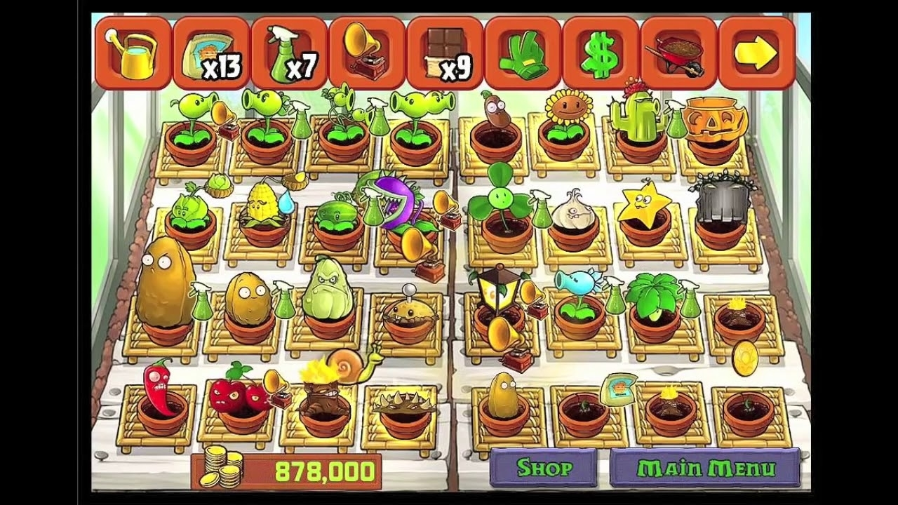 Pvz Plants Vs Zombies Completed Zen Garden All Plants Possible - Youtube with Zen Garden Plants Vs Zombies Ds