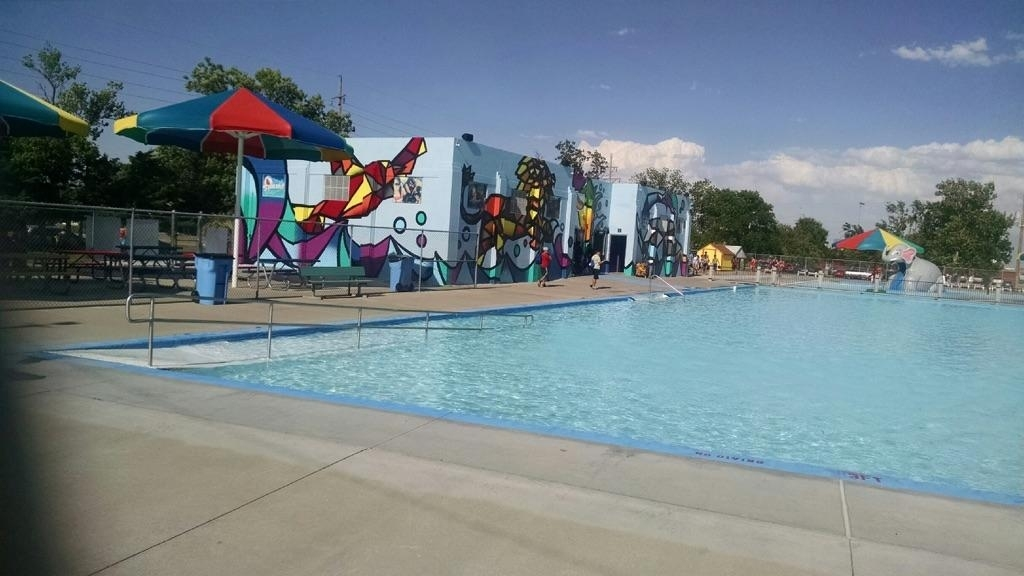 Big Pool's Big Mural Featured In Time-Lapse Video   Hppr throughout Garden City Big Pool