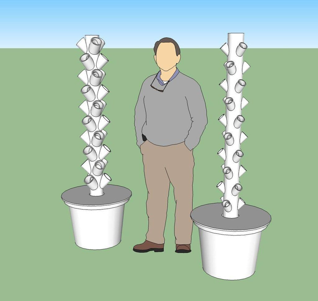 Build Your Own Hydroponic Tower Garden