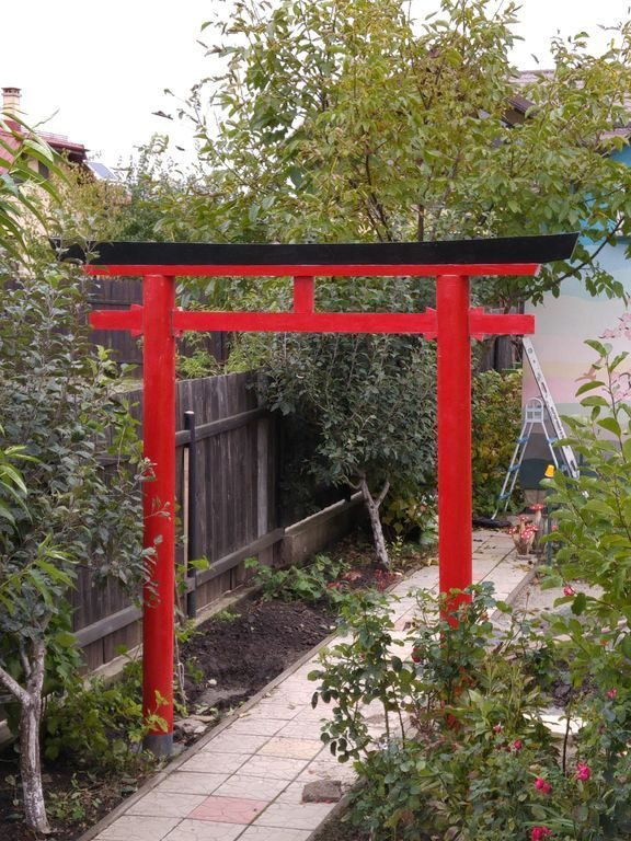 Zen Garden Design With Shinto Gate