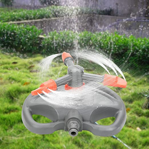 Kingso Automatic Rotating Water Sprinkler Garden Pipe Hose Irrigation