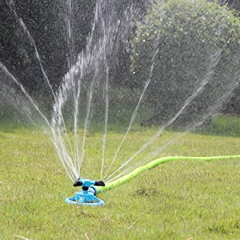 Sinvr Lawn Sprinkler Automatic Garden Water Sprinklers Lawn Irrigation Rotation 360